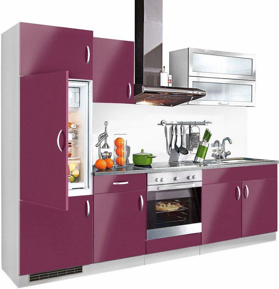 Küchenzeile »Amrum«, Breite 270 cm in vielen verschiedenen Farben ...