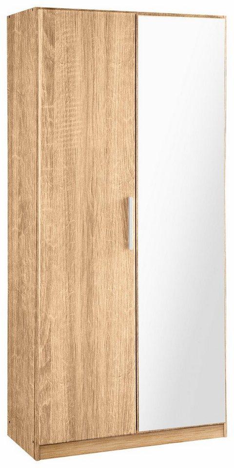 Rauch Garderobenschrank »Minosa«, mit Spiegel, Breite 91 cm in eichefb.