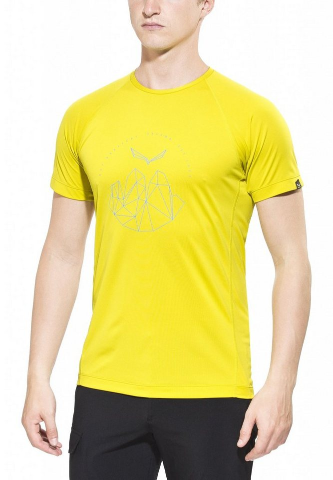 Salewa T-Shirt »Pedroc Dry SS Tee Men« in gelb