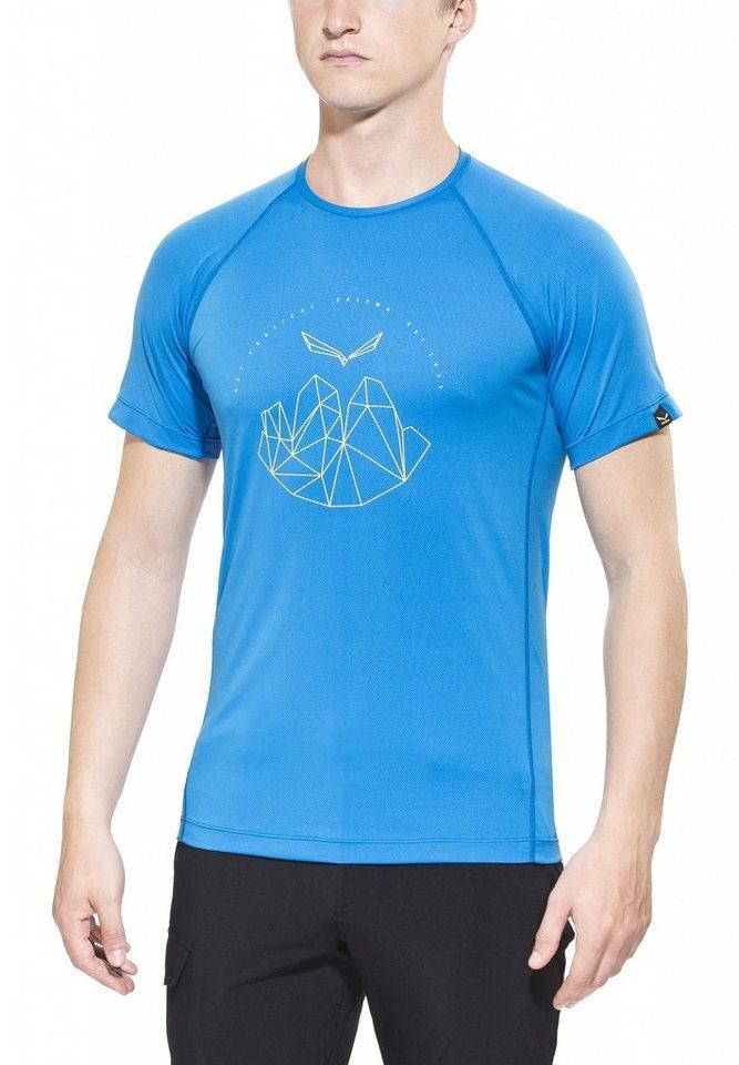 Salewa T-Shirt »Pedroc Dry SS Tee Men« in blau