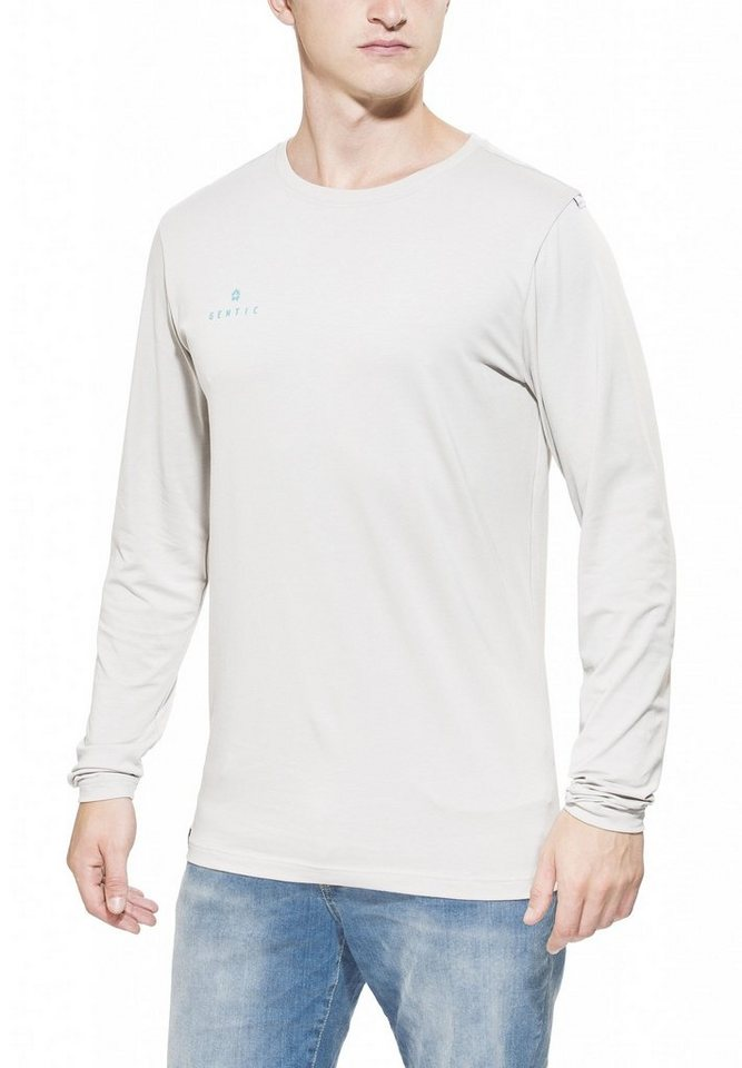 Gentic Sweatshirt »Lines Game Long Tee Men« in beige