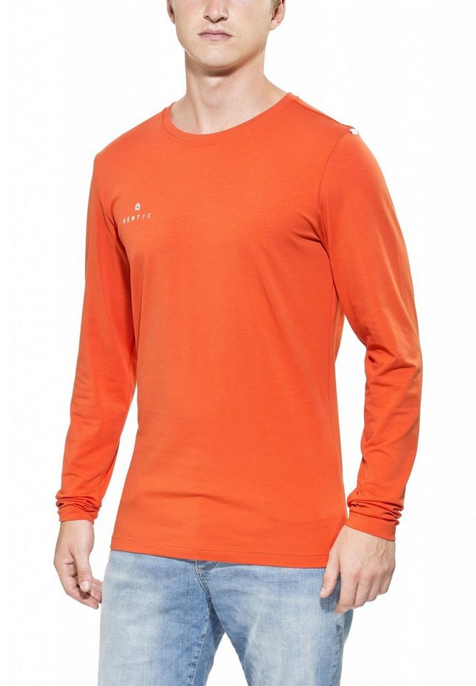 Gentic Sweatshirt »Lines Game Long Tee Men« in orange