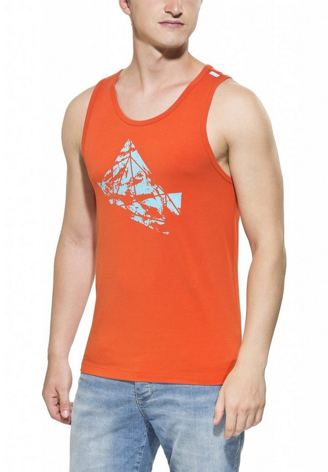Gentic Tanktop »Polygony Tank Men« in orange