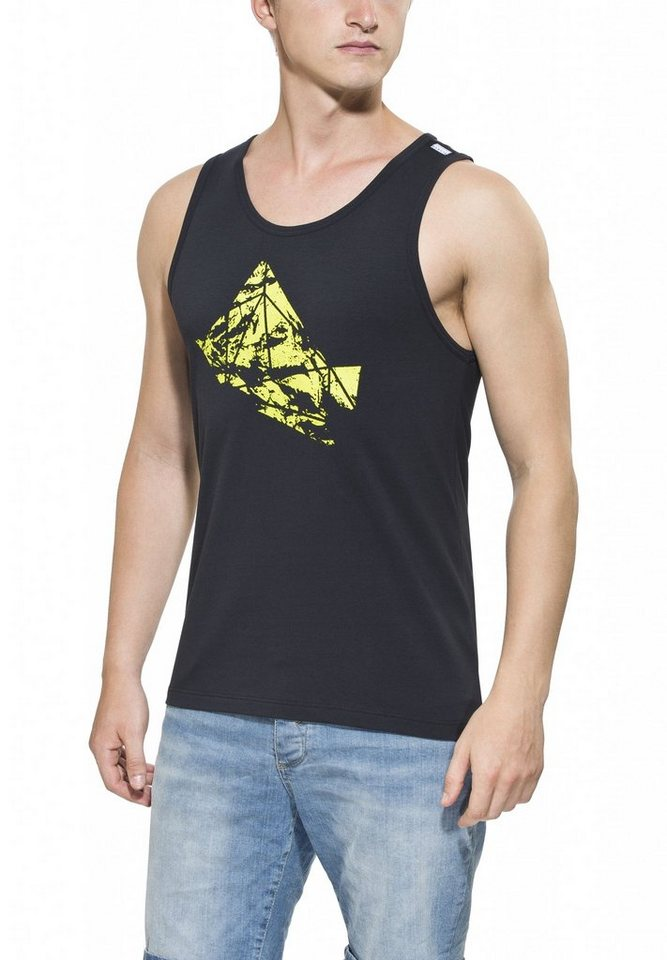 Gentic Tanktop »Polygony Tank Men« in schwarz