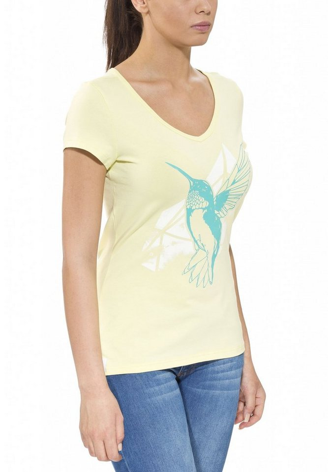 Gentic T-Shirt »Joytop Tee Women« in gelb