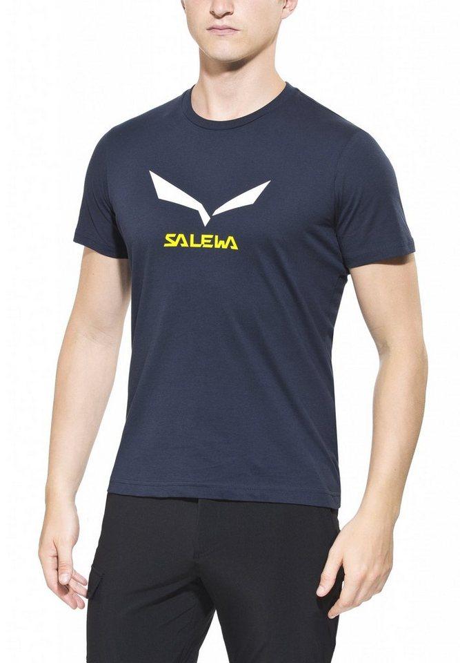 Salewa T-Shirt »Solidlogo 2 S/S Tee Men CO« in schwarz