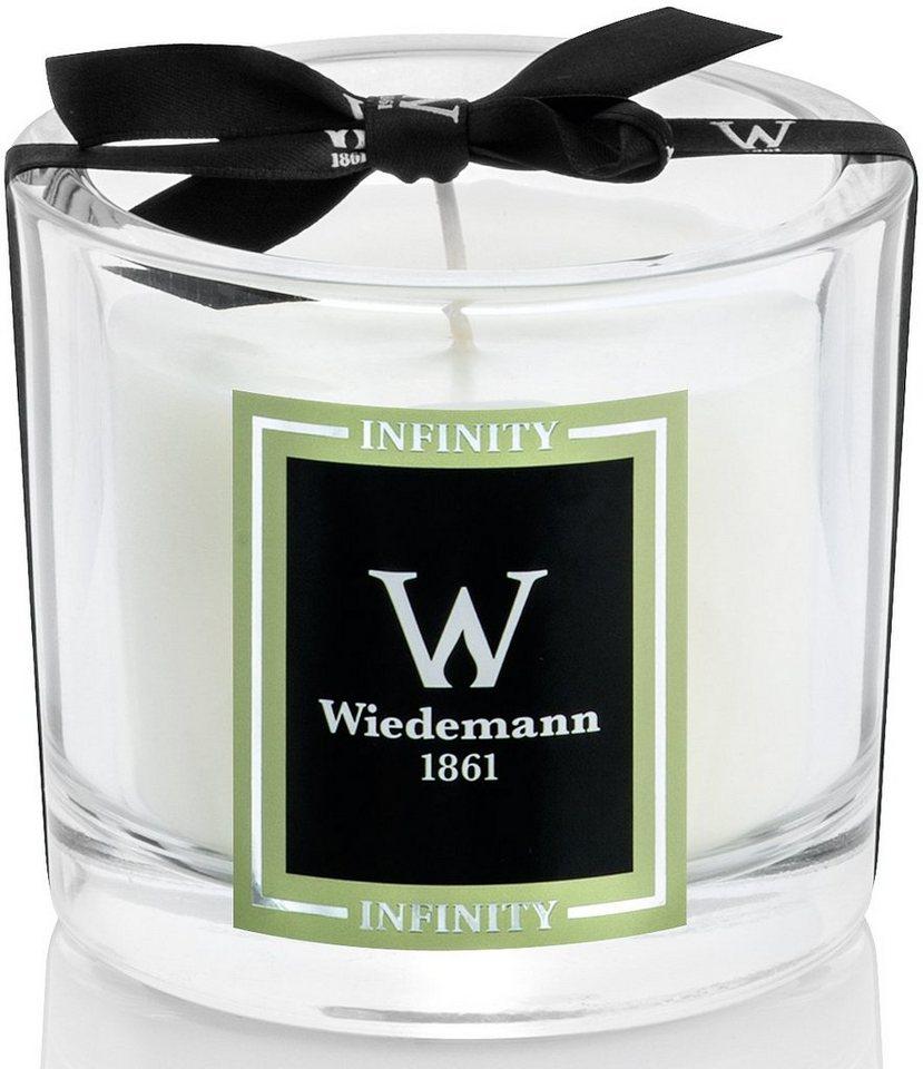 Wiedemann Black Edition Duftkerze im hochwertigen Glas, »Infinity«, in edler Geschenkbox in elfenbein