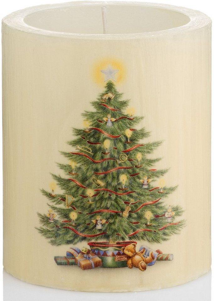 Wiedemann Lampionkerze Vintage Edition, »Christmas Tree« 4er-Set, Höhe 12 cm in beige/grün