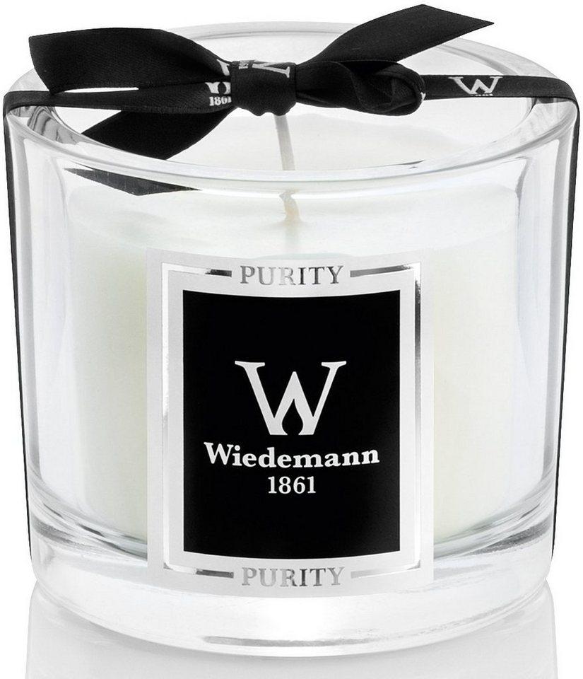 Wiedemann Black Edition Duftkerze im hochwertigen Glas, »Purity«, in edler Geschenkbox in elfenbein