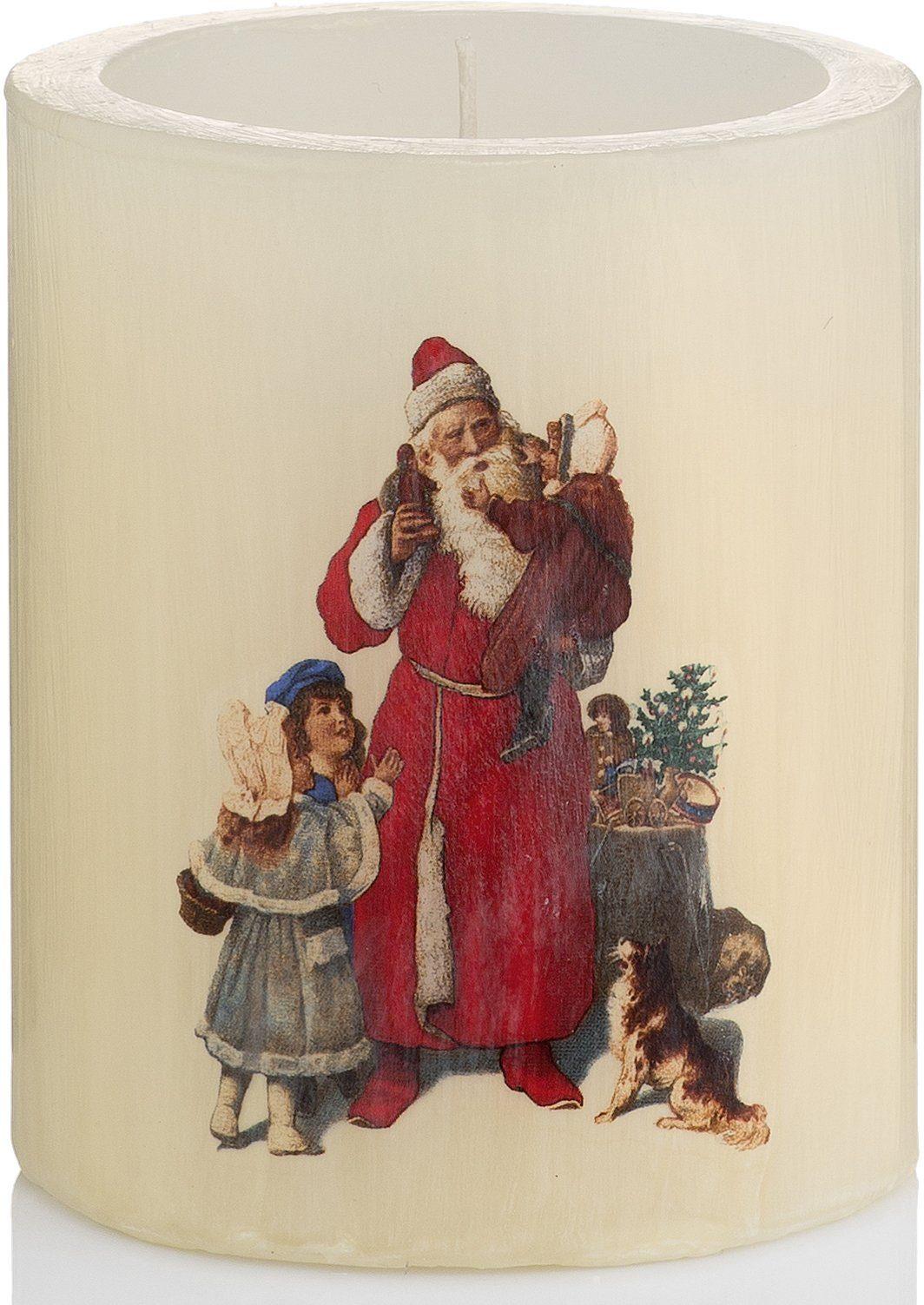 Wiedemann Lampionkerze Vintage Edition, »Santa« 4er-Set, Höhe 12 cm