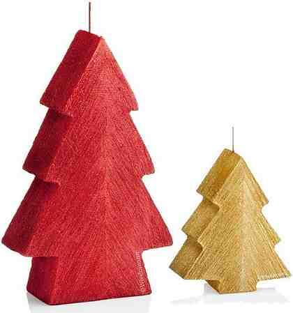 Wiedemann Kerzen-Set »Tannenbaum« (2-teilig), gebürstete Oberfläche, im passenden Geschenkkarton