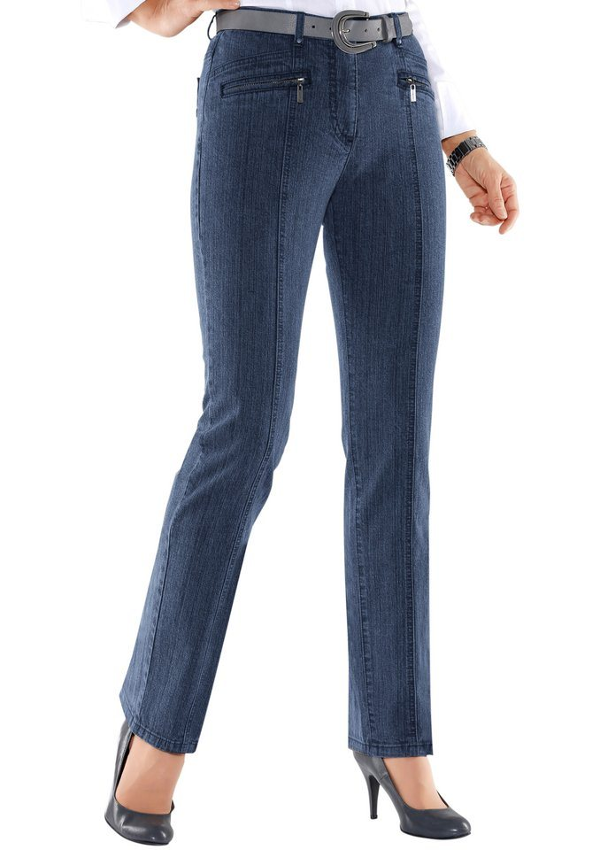 Collection L. Jeans in Stretch-Qualität in blue-stone-washed