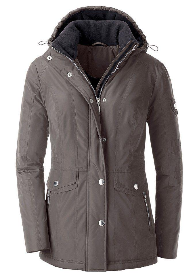Collection L. Jacke wind- und wasserabweisend in taupe-schwarz