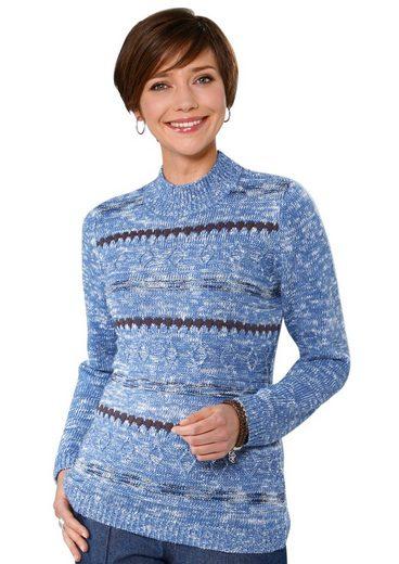 Classic Basics Pullover mit Stehkragen
