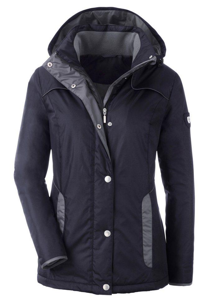 Collection L. Jacke mit Umlegekragen in schwarz-grau