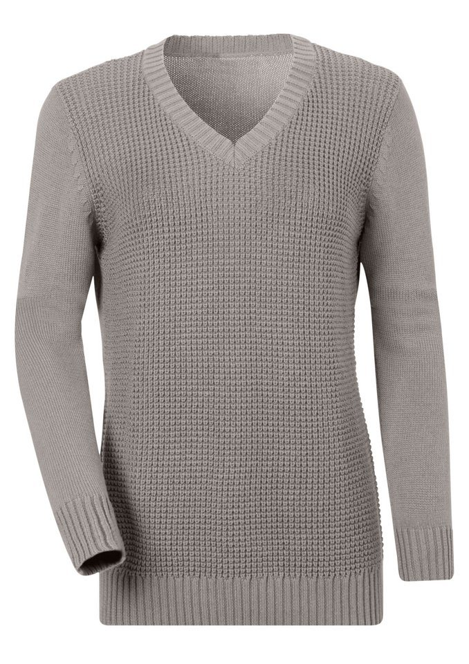 Collection L. Pullover in Basic in grau-meliert