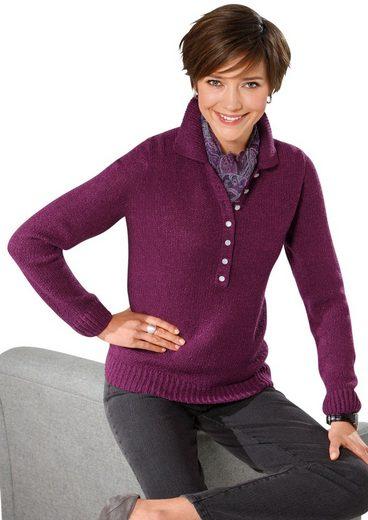 Classic Basics Pullover in weicher Bouclé-Qualität