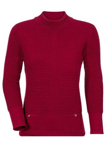 Classic Pullover mit Rippmuster