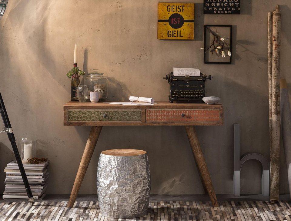 SIT Schreibtisch »Scandi«, 120 cm breit in braun/bunt
