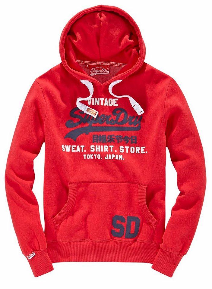 Superdry Kapuzensweatshirt »SWEAT SHIRT STORE HOOD« in rot