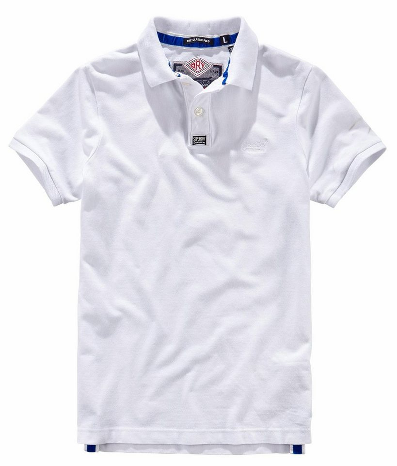 Superdry Poloshirt »CLASSIC PIQUE S/S POLO« in weiß