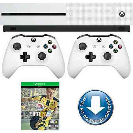 Xbox One S 500GB + FIFA 17 (DLC) + 2. Controller, 4K Ultra HD