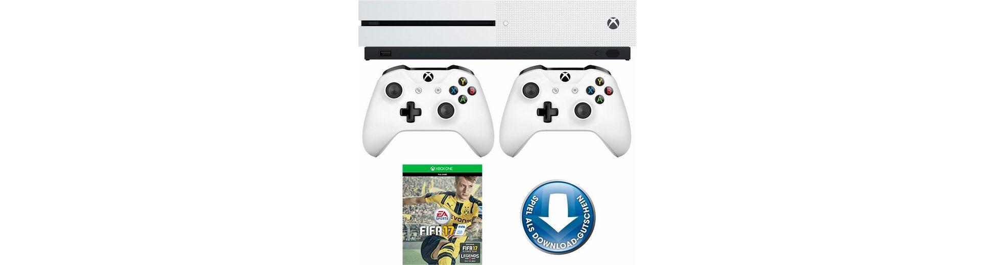 Xbox One S 500GB + FIFA 17 (DLC) + 2. Controller, 4K Ultra HD