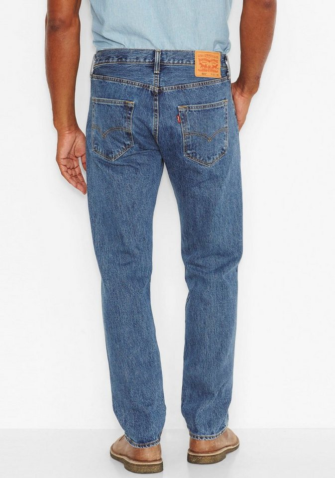 Levi's® Big and Tall Straight-Jeans »501®« in medium-stone-washed