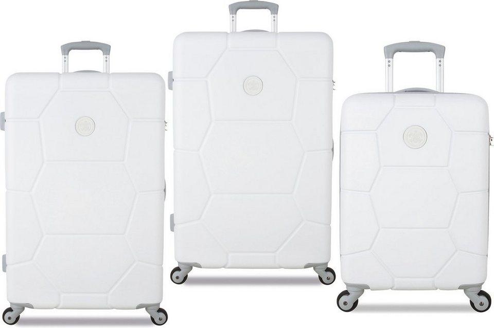 SUITSUIT® Hartschalentrolley Set mit 4 Rollen, 3-tlg., »Caretta Shell White« in weiß