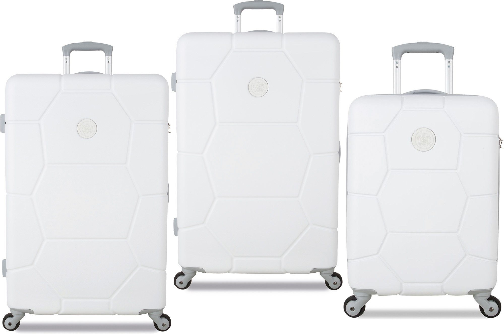 SUITSUIT® Hartschalentrolley Set mit 4 Rollen, 3-tlg., »Caretta Shell White«