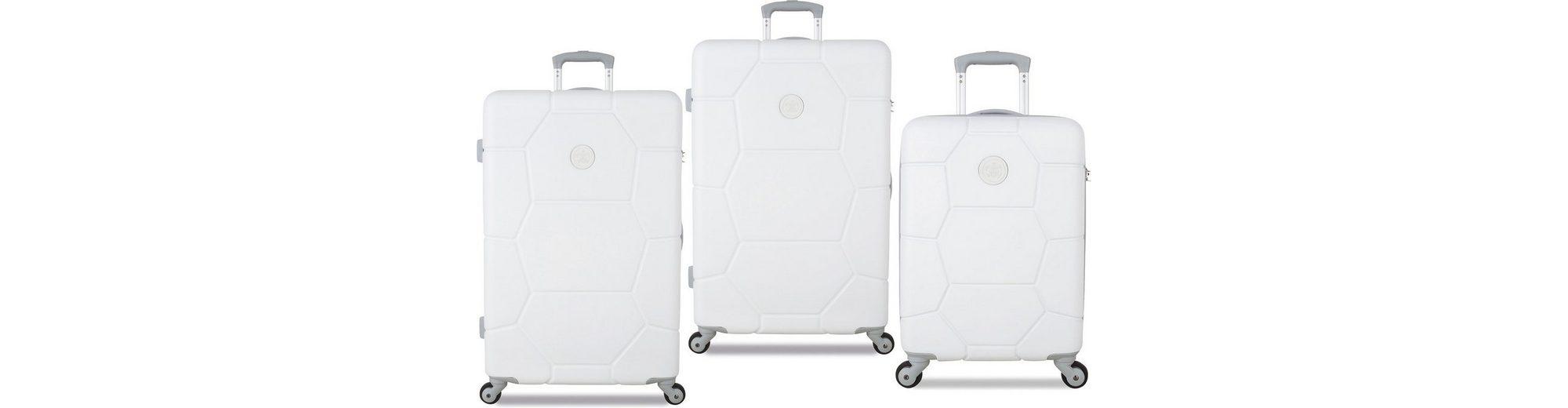 SUITSUIT® Hartschalentrolley Set mit 4 Rollen, 3-tlg., »Caretta Shell White«