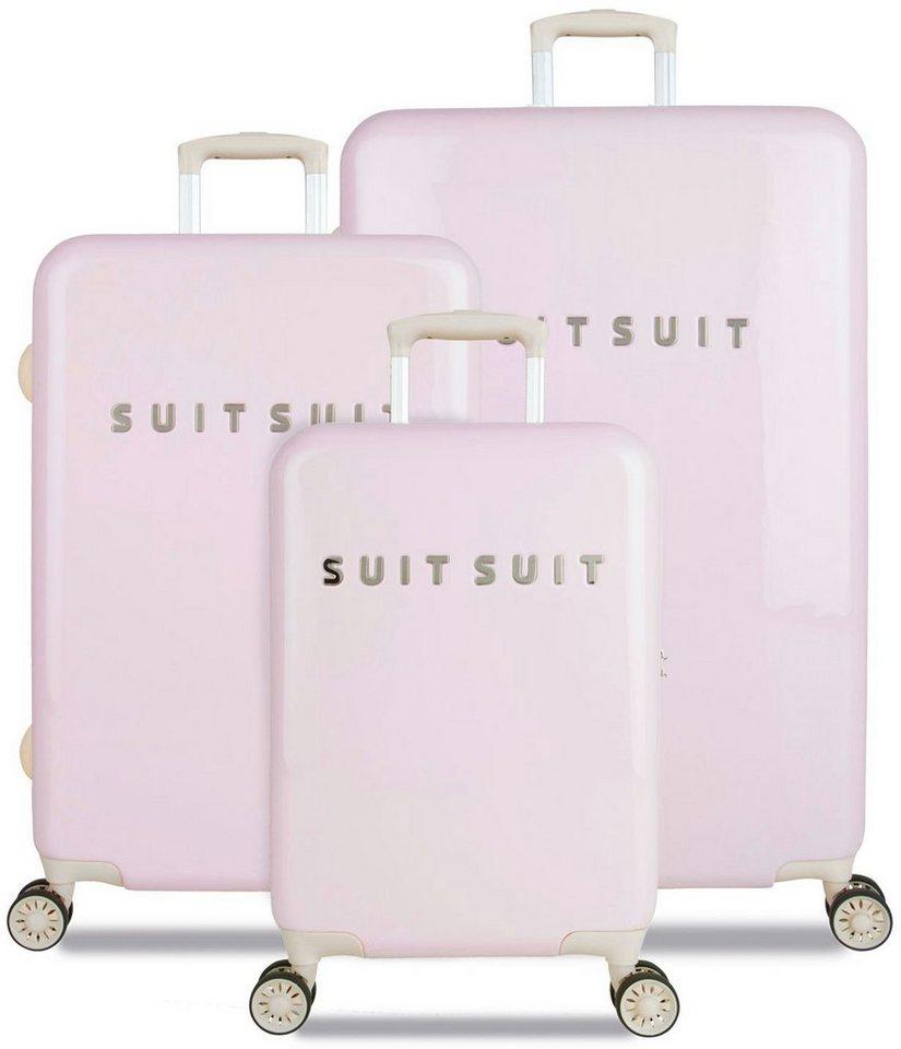 SUITSUIT® Hartschalentrolley Set mit 4 Rollen, 3-tlg., »Fabulous Fifties Pink Dust« in rosa