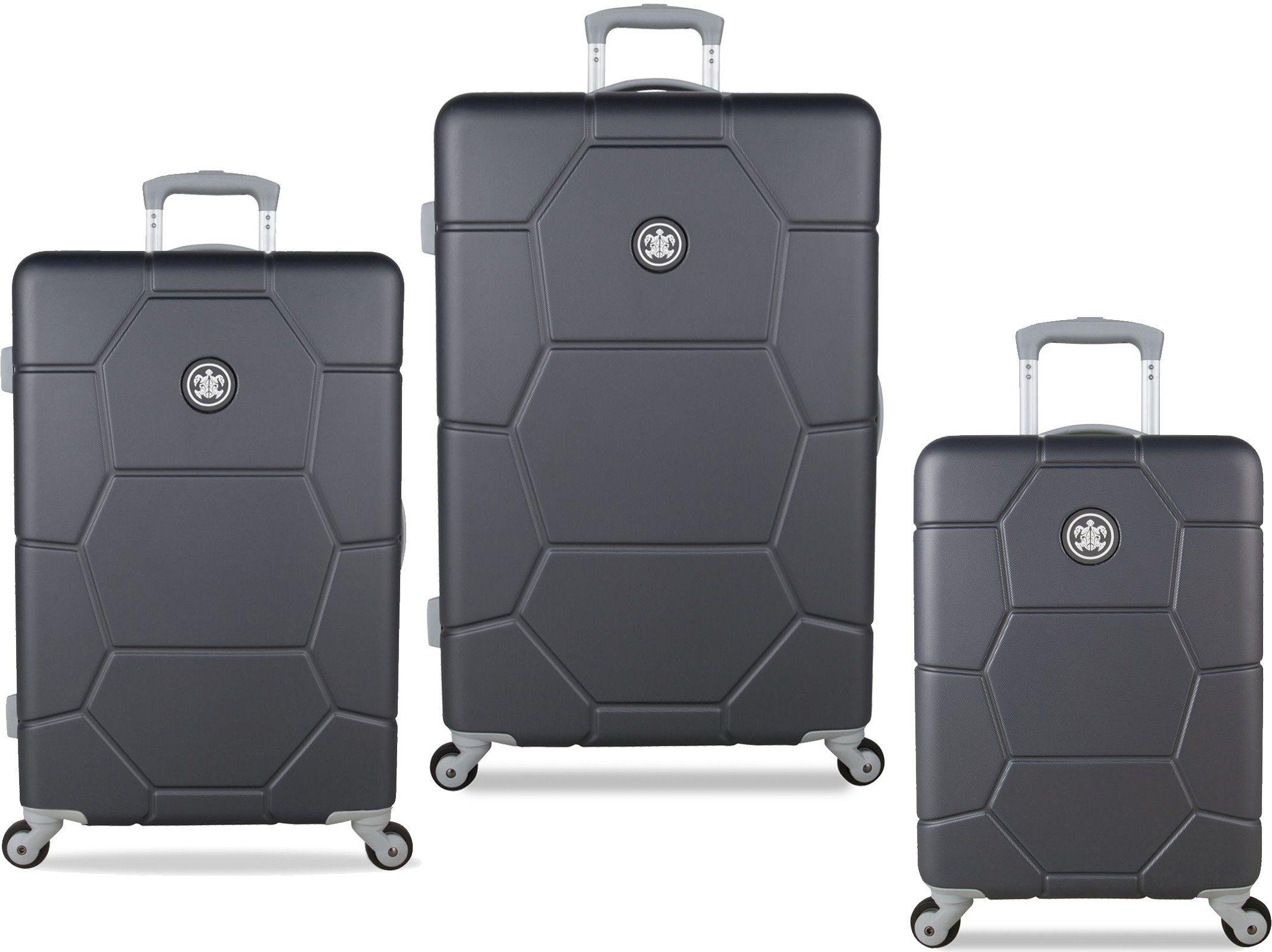 SUITSUIT® Hartschalentrolley Set mit 4 Rollen, 3-tlg., »Caretta Cool Grey«