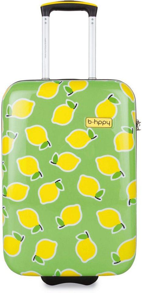 b-hppy Hartschalentrolley mit 2/4 Rollen, »Easy Peasy Lemon Squeezy«