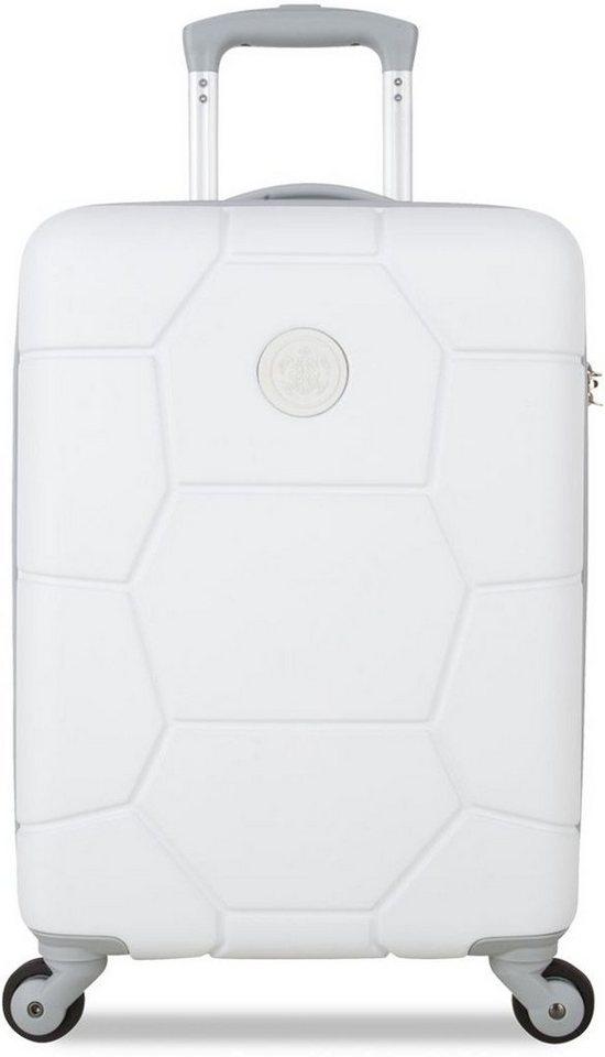 SUITSUIT® Hartschalentrolley mit 4 Rollen, »Caretta Shell White« in weiß
