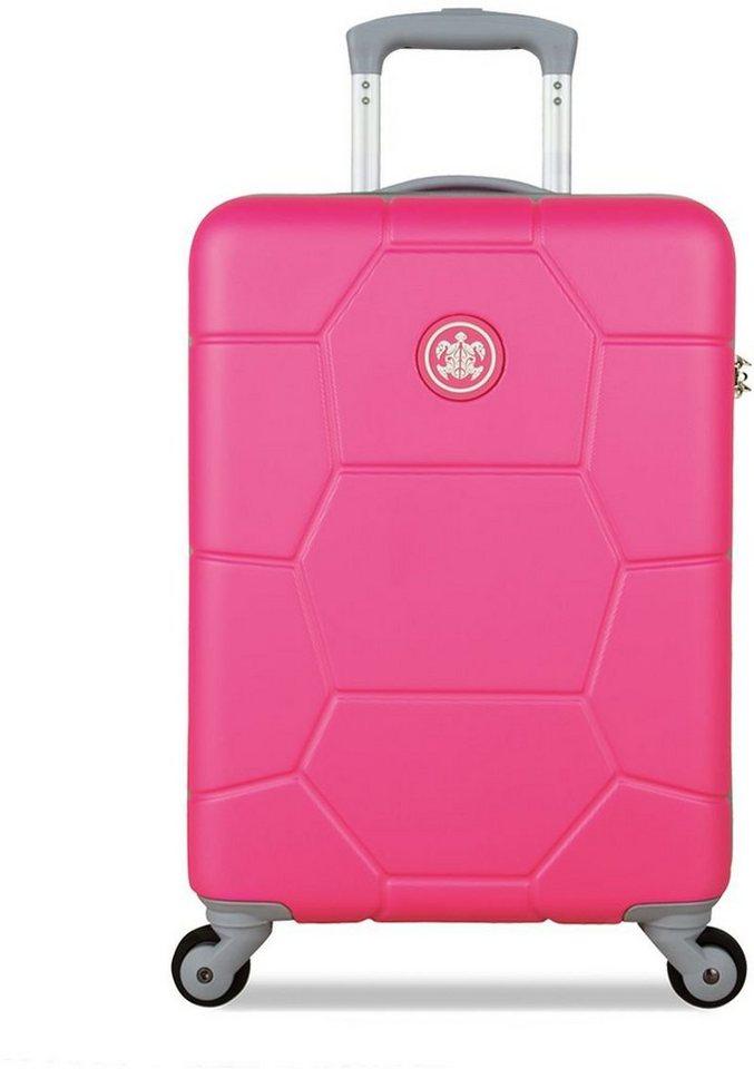 SUITSUIT® Hartschalentrolley mit 4 Rollen, »Caretta Shocking Pink« in pink