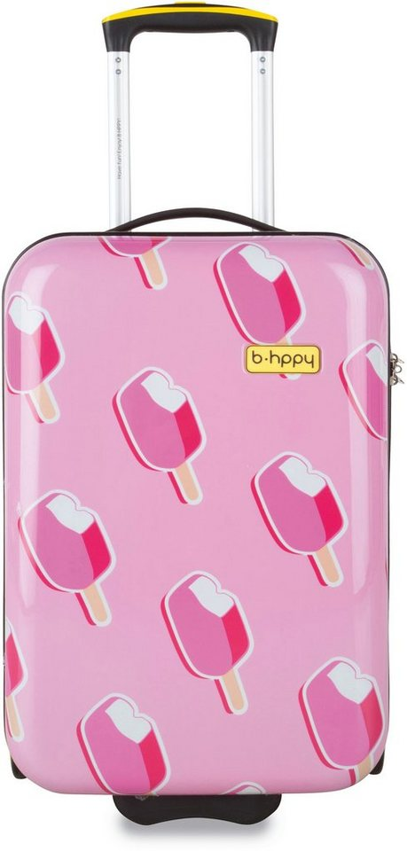 b-hppy Hartschalentrolley mit 2/4 Rollen, »Ice on Holiday« in pink