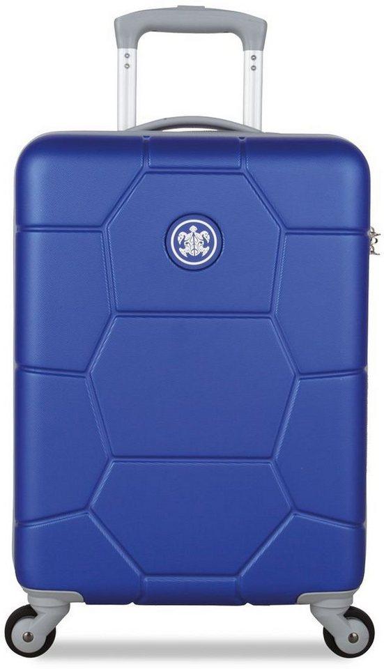 SUITSUIT® Hartschalentrolley mit 4 Rollen, »Caretta Dazzling Blue« in blau
