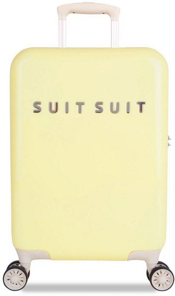 SUITSUIT® Hartschalentrolley mit 4 Rollen, »Fabulous Fifties Mango Cream« in gelb
