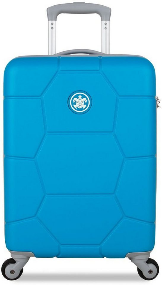 SUITSUIT® Hartschalentrolley mit 4 Rollen, »Caretta Blue Mint« in blau