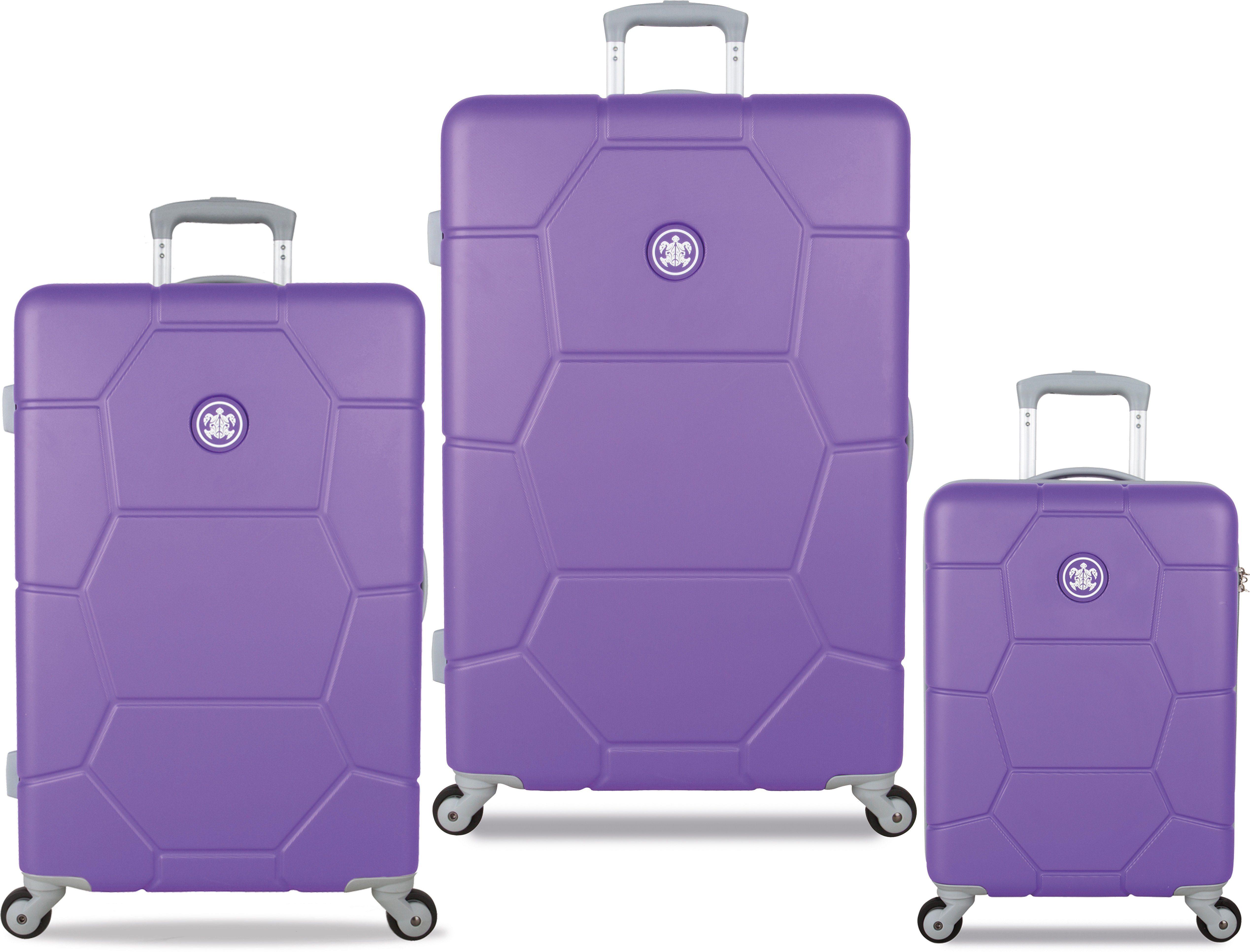 SUITSUIT® Hartschalentrolley Set mit 4 Rollen, 3-tlg., »Caretta Purple Heart«