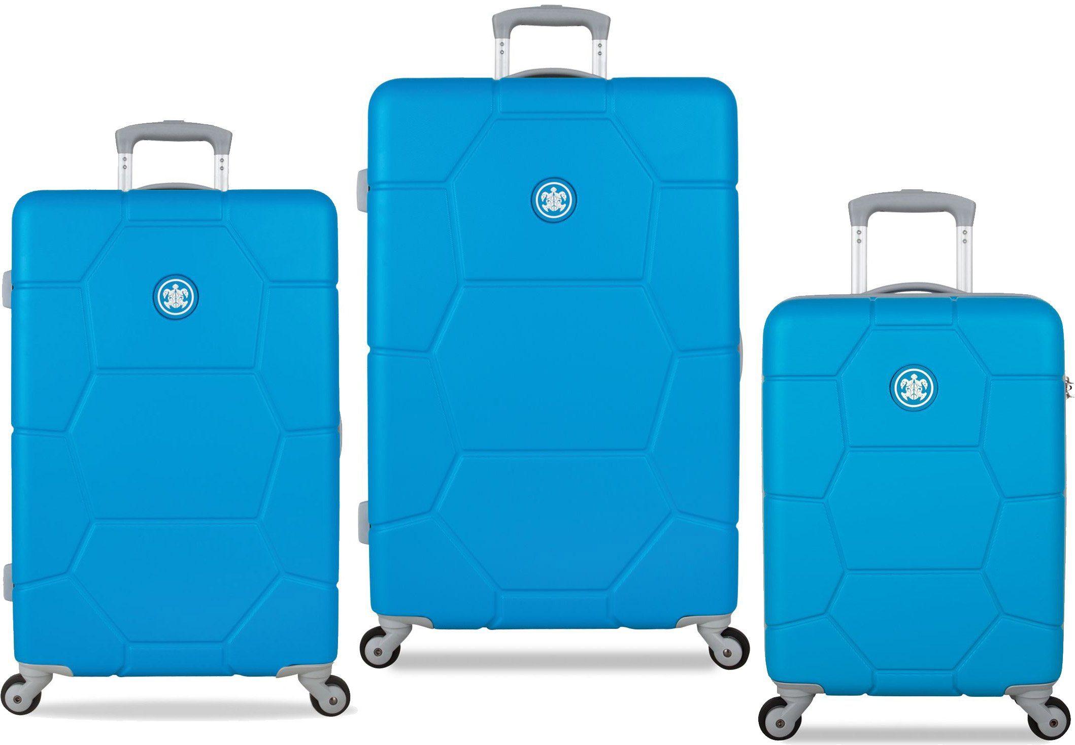 SUITSUIT® Hartschalentrolley Set mit 4 Rollen, 3-tlg., »Caretta Blue Mint«