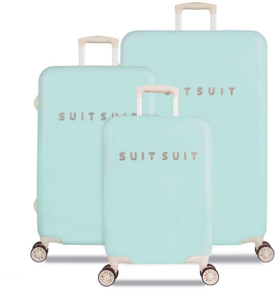 SUITSUIT® Hartschalentrolley Set mit 4 Rollen, 3-tlg., »Fabulous Fifties Luminous Mint« in grün