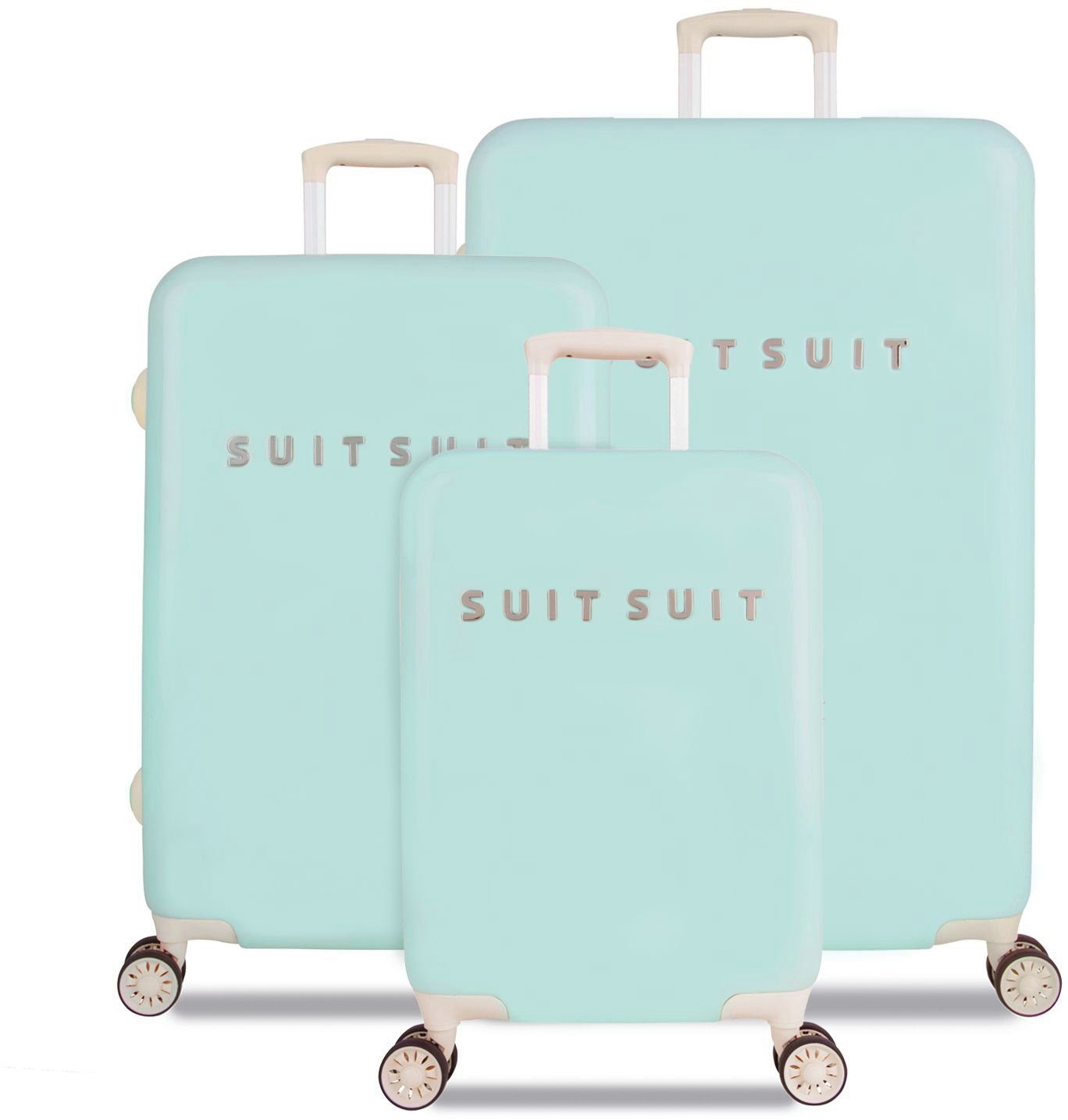 SUITSUIT® Hartschalentrolley Set mit 4 Rollen, 3-tlg., »Fabulous Fifties Luminous Mint«