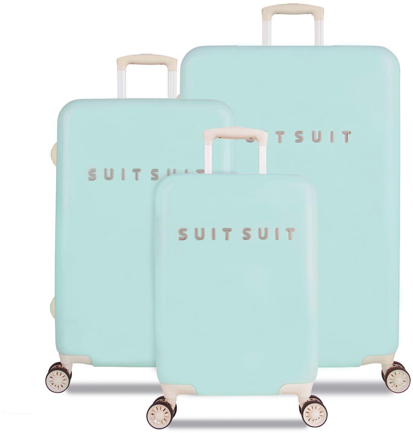 SUITSUIT® Hartschalentrolley Set mit 4 Rollen, 3-tlg., »Fabulous Fifties Luminous Mint«
