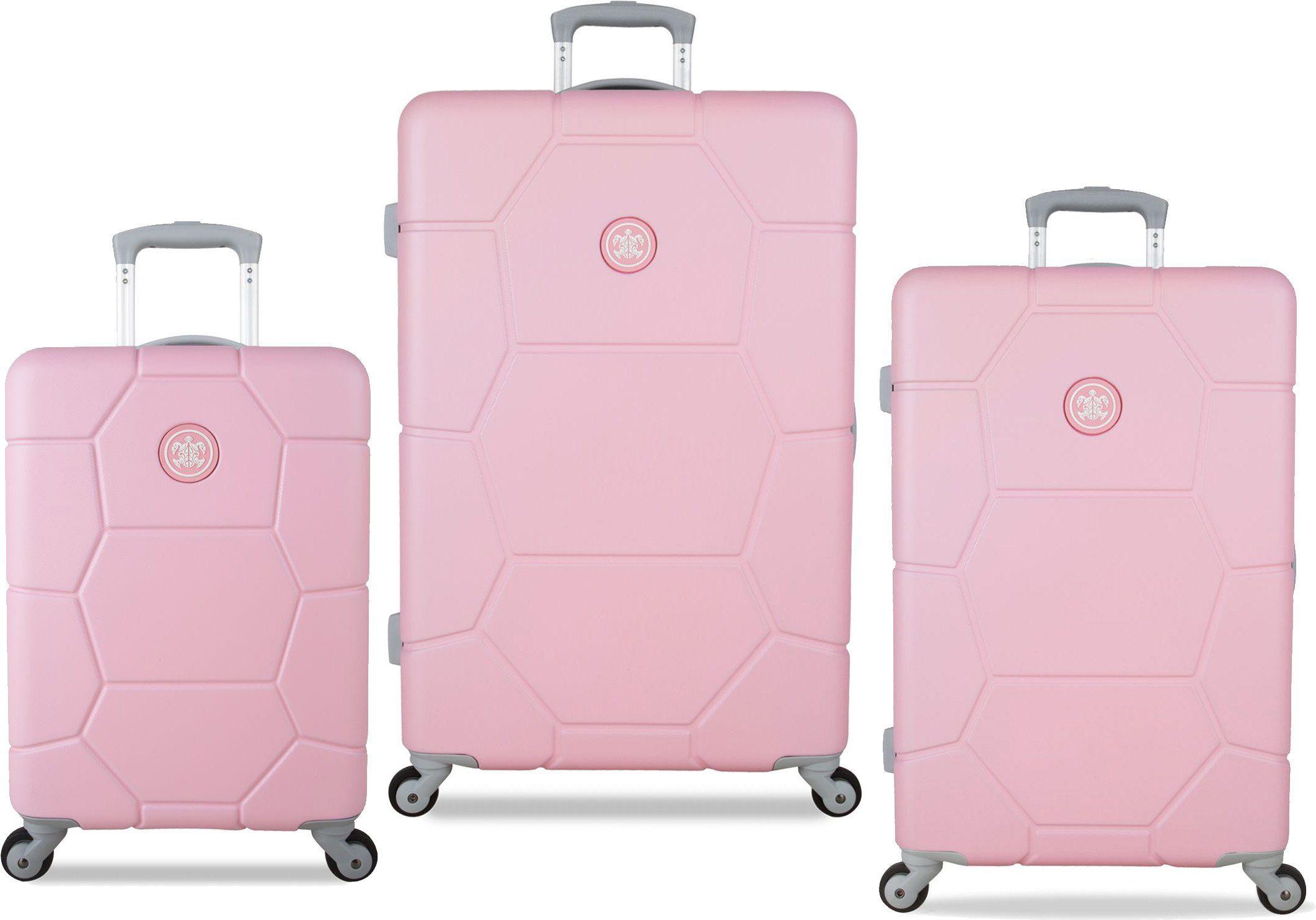 SUITSUIT® Hartschalentrolley Set mit 4 Rollen, 3-tlg., »Caretta Pink Lady«