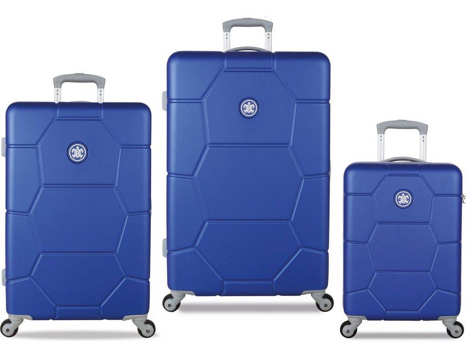 SUITSUIT® Hartschalentrolley Set mit 4 Rollen, 3-tlg., »Caretta Dazzling Blue« in blau