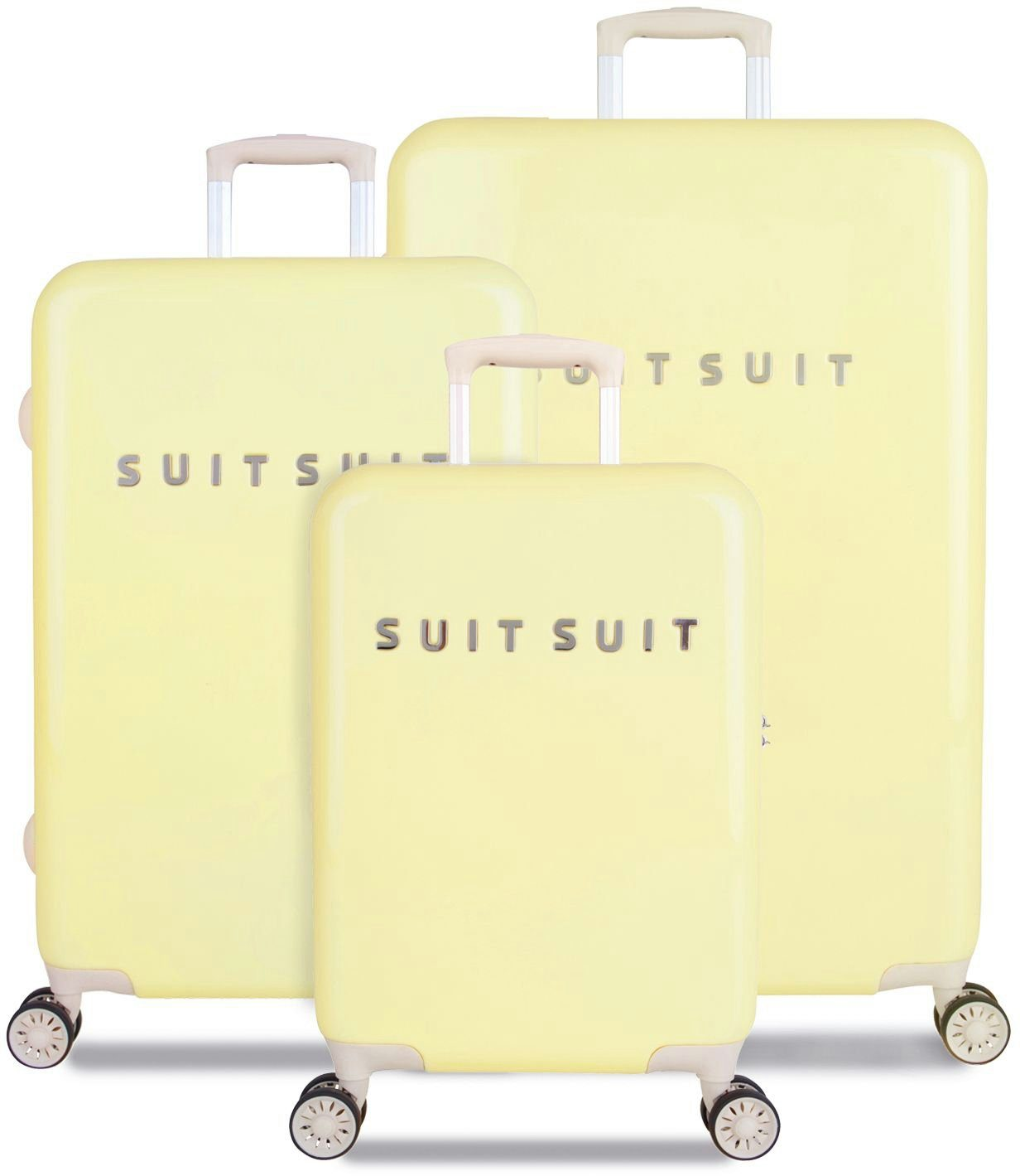 SUITSUIT® Hartschalentrolley Set mit 4 Rollen, 3-tlg., »Fabulous Fifties Mango Cream«