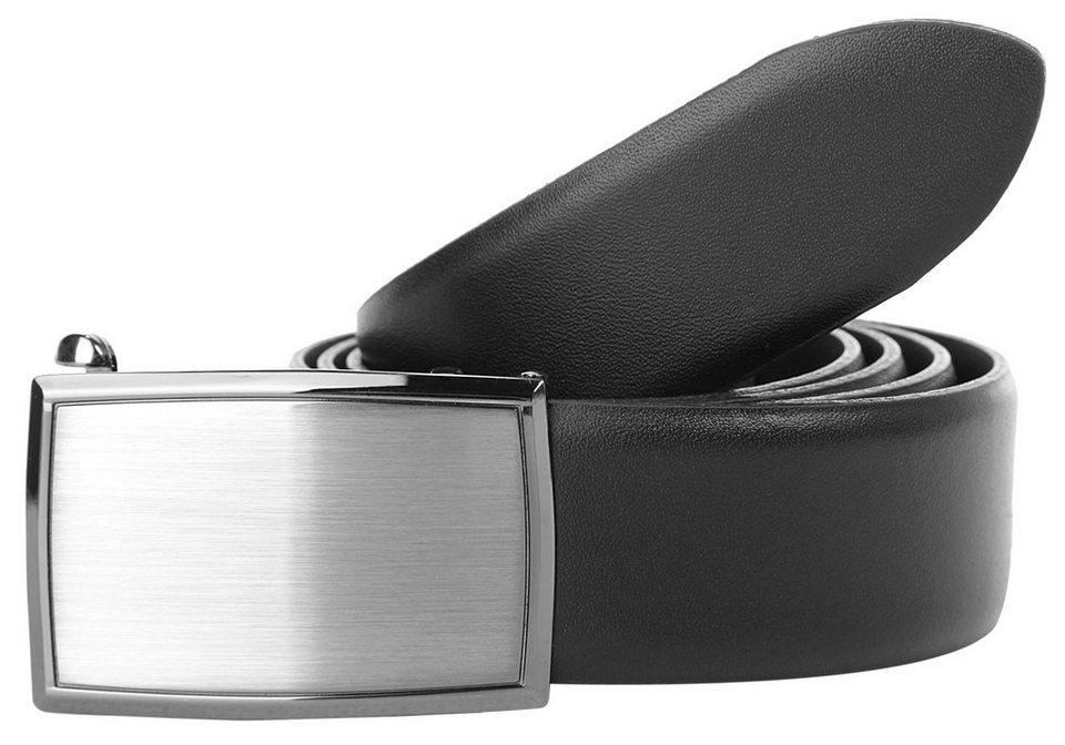 LLOYD Men's Belts Herren Leder Gürtel in schwarz
