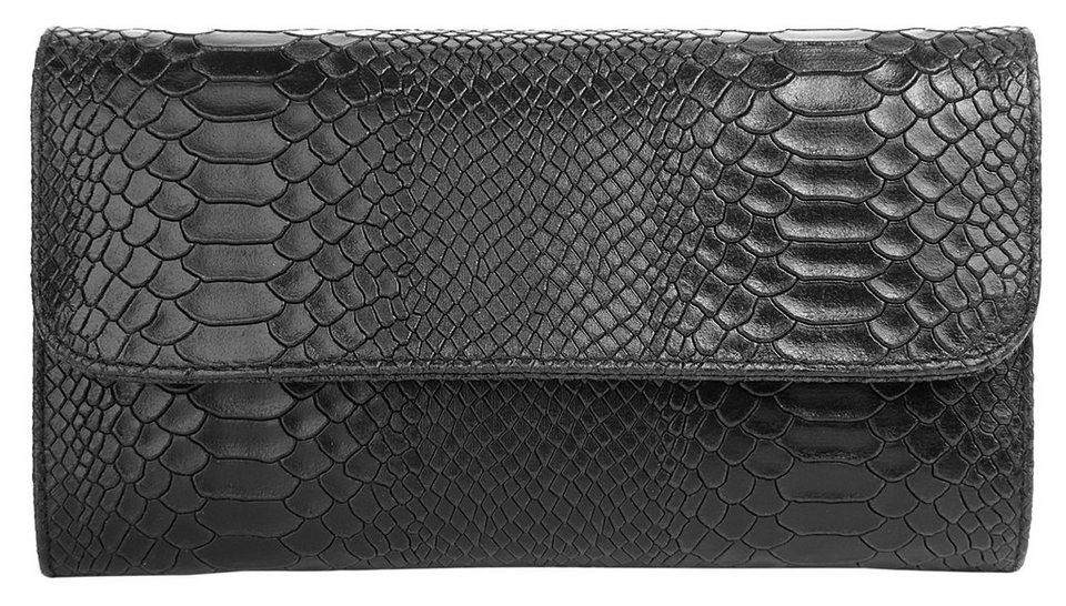 Cluty Leder Damen Abentasche / Clutch in schwarz
